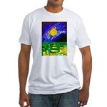 tmeret manymoons stained glass Fitted T-Shirt