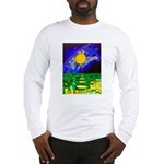tmeret manymoons stained glass Long Sleeve T-Shirt
