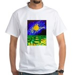 tmeret manymoons stained glass White T-Shirt