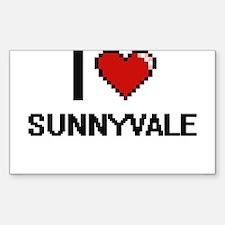 I love Sunnyvale Digital Design Decal