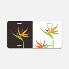 Bird of Paradise Flowers Aluminum License Plate