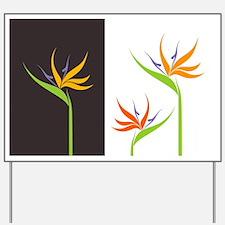 Bird of Paradise Flowers Yard Sign