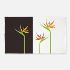 Bird of Paradise Flowers Area Rug