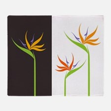 Bird of Paradise Flowers Throw Blanket