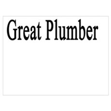 We Know You'll Make A Great Plumber Poster