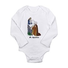 Cute St. ignatius Long Sleeve Infant Bodysuit