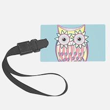 Colorful Owl Luggage Tag