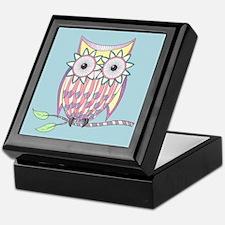 Colorful Owl Keepsake Box