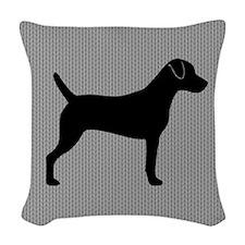 Parson Russell Terrier Woven Throw Pillow