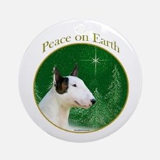 Mini Bull Peace Ornament (Round)