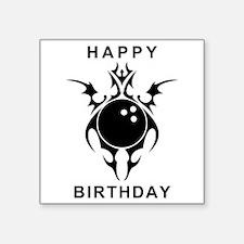 happy birthday bowling ball Sticker