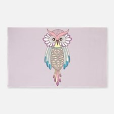 Colorful Owl Area Rug