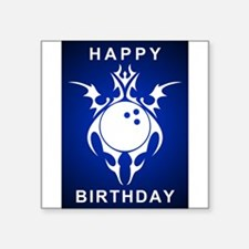 birthday bowler greetings Sticker