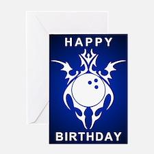 birthday bowler greetings Greeting Cards
