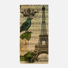 french botanical paris eiffel tower Beach Towel