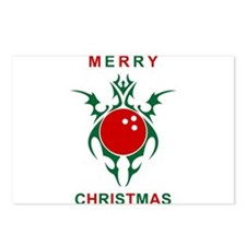 merry christmas bowling Postcards (Package of 8)
