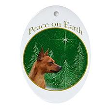 Min Pin Peace Oval Ornament