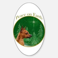 Min Pin Peace Oval Decal