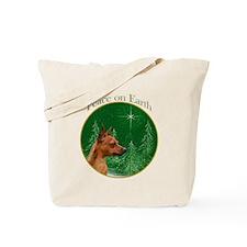 Min Pin Peace Tote Bag