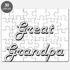 Great Grandpa Classic Retro Design Puzzle