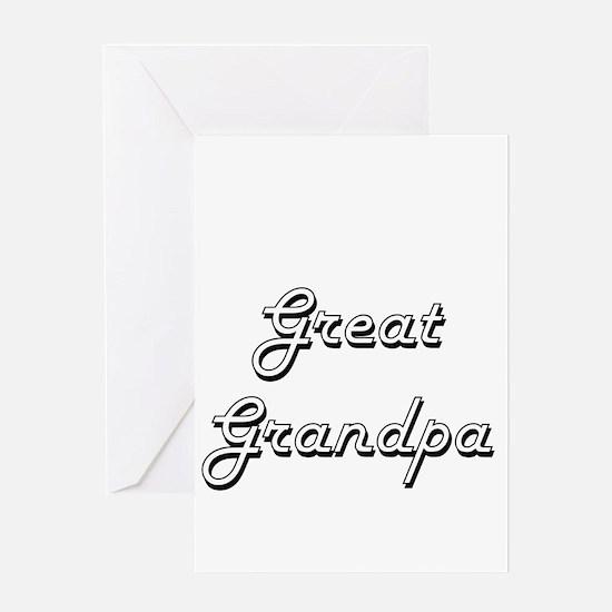 Great Grandpa Classic Retro Design Greeting Cards
