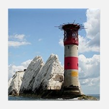 The Needles Lighthouse, England Tile Coaster