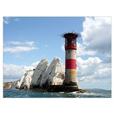 The Needles Lighthouse, England Poster