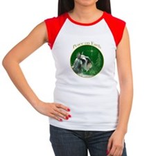 Mini Schnauzer Peace Women's Cap Sleeve T-Shirt