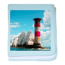 The Needles Lighthouse, England baby blanket