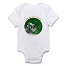 Mini Schnauzer Peace Infant Bodysuit