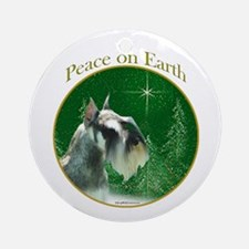 Mini Schnauzer Peace Ornament (Round)