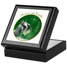 Mini Schnauzer Peace Keepsake Box