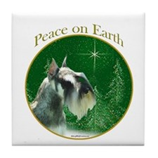 Mini Schnauzer Peace Tile Coaster