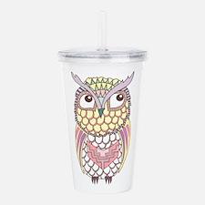 Colorful Owl Acrylic Double-wall Tumbler