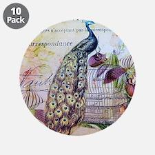 """paris orchid birdcage peacoc 3.5"""" Button (10 pack)"""