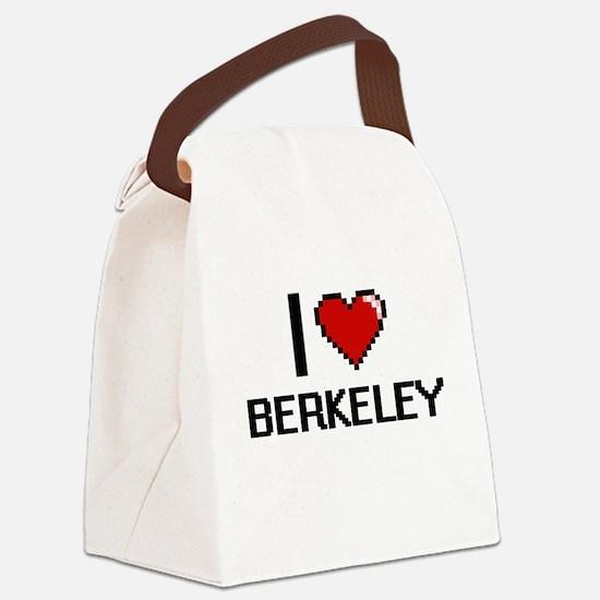 I love Berkeley Digital Design Canvas Lunch Bag