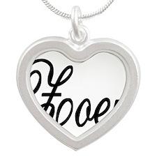 Zoey Personalized Black Script Necklaces