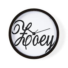 Zoey Personalized Black Script Wall Clock