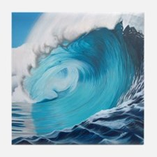 New Wave by Alexa's Makin' Waves Tile Coaster