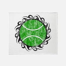 distressed tribal tennis Throw Blanket