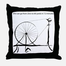 0_to_60blck2.png Throw Pillow