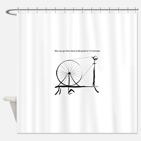 0_to_60blck2.png Shower Curtain