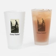 Gone Fishin Drinking Glass