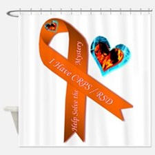 I Have CRPS Solve the Mystery Ribbo Shower Curtain