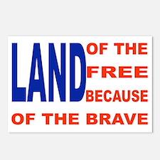 Brave Flag Postcards (package Of 8)