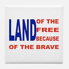 Brave Flag Tile Coaster