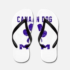 Canaan Dog mom designs Flip Flops