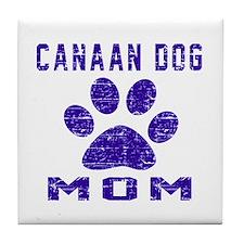 Canaan Dog mom designs Tile Coaster