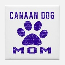 Canaan Dog mom designs Tile Coaster