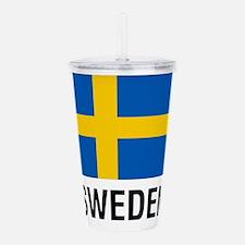FLAG of SWEDEN Acrylic Double-wall Tumbler